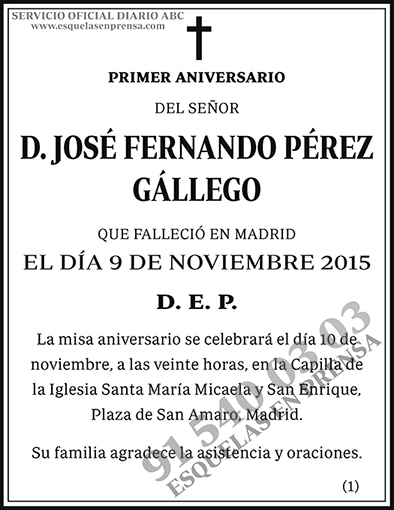 José Fernando Pérez Gállego